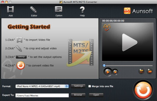 AVCHD video clip format